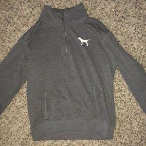 Victoria secret half zip sweatshirt